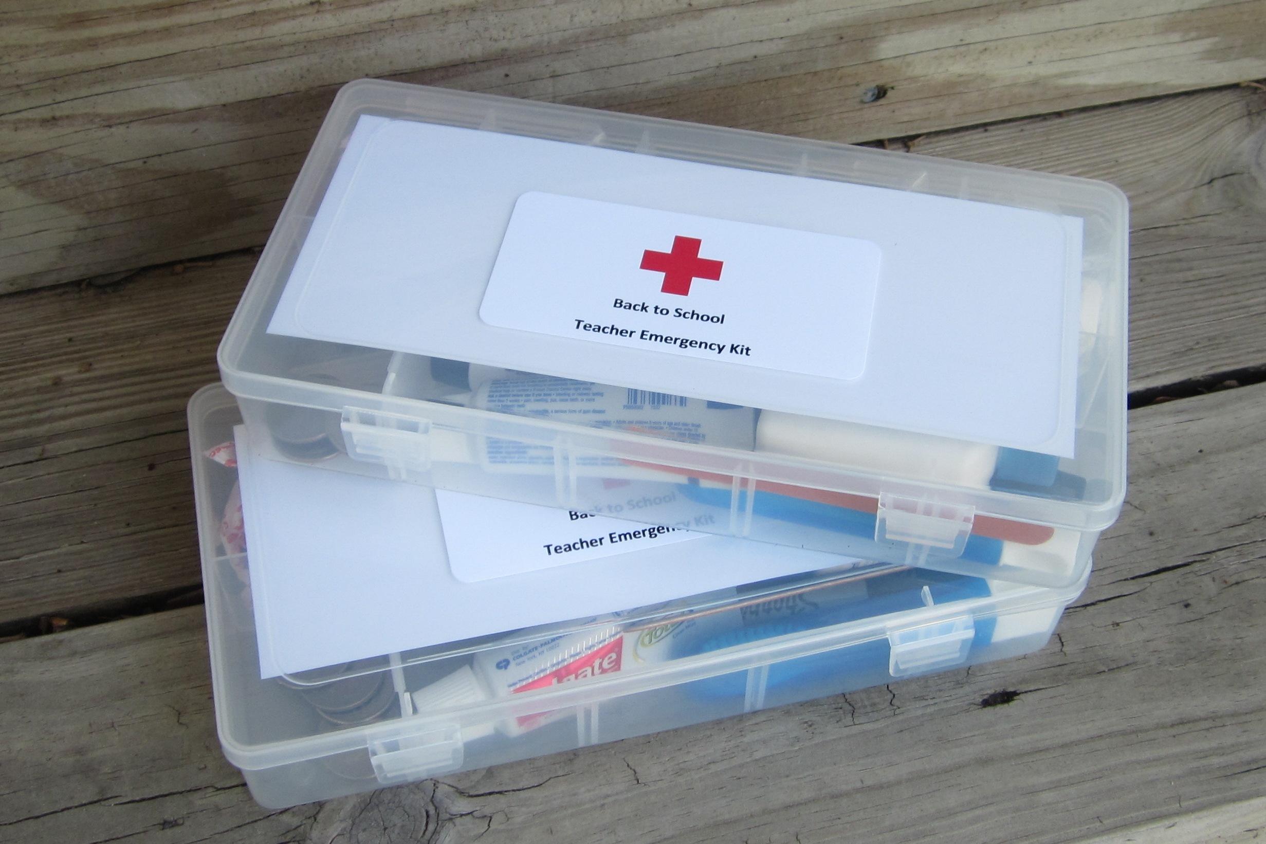 Back to School Teacher Emergency Kits | TheRoomMom