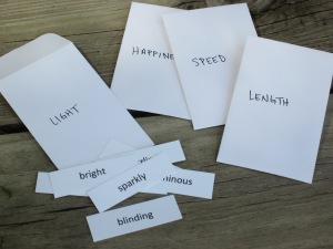 ranking words shades of meaning vocabulary activity #vocabulary