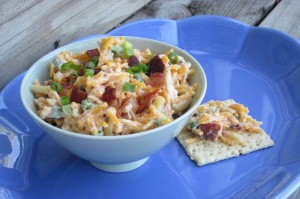 bacon almond cheese dip w cracker