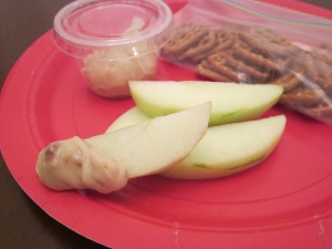 apple dip close up