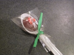 wrapped cocoa stirrer