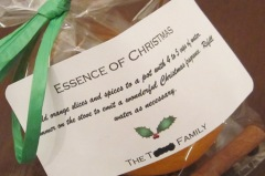 essence of christmas label