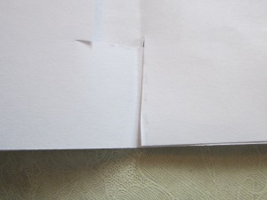 Step 5: (continued) If the pages won't lie flat, you may need to adjust the cut flaps and make them a little longer.