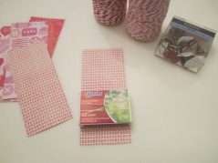 matchbox and scrapbook paper