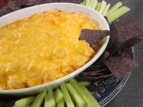 buffalo chicken dip close up