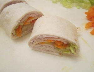 turkey wrap close