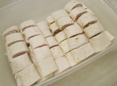 turkey wraps tupperware