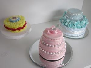 American Girl Pink Wedding Cake