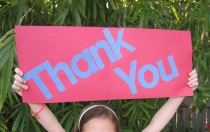 magnet thank you sign