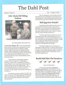 character newspaper portfolio
