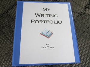 writing portfolio binder
