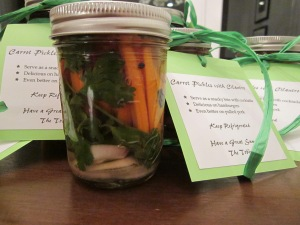 carrot pickles finished