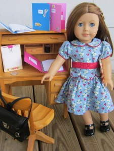 American Girl DIY desk and school supplies