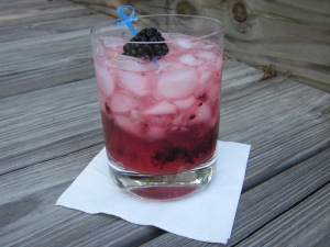 blackberry vodka drink with garnish