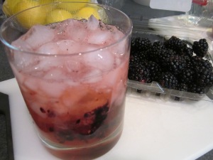 blackberry vodka drink