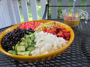 mexican chopped salad and dressing