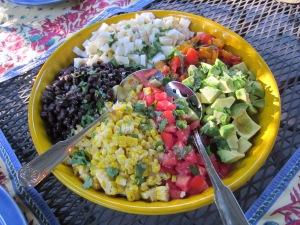mexican chopped salad with cilantro