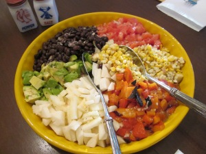 serving mexican chopped salad