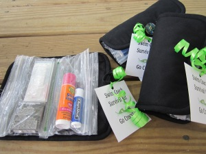 coach survival kit tags