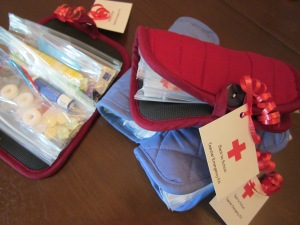teacher emergency kit filled and gift tags