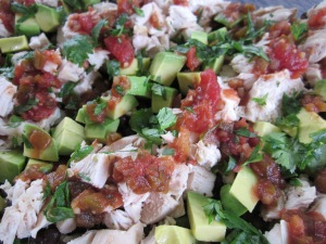 baja chicken salad close