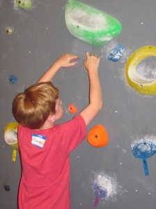 rock climbing birthday party wall