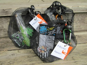 rock climbing party favor bags filled