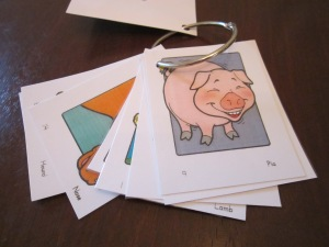 "This is a ""giggling pig"" and actually represents the short ""i"" sound."
