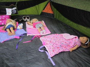American Girl Dolls Camping