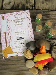 American Girl Party Invitation