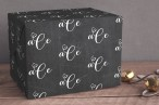 wrapping paper initials