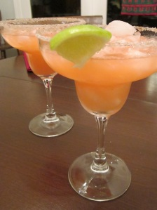 cranberry margarita poured