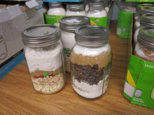 mason jar cookie mixes