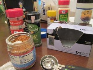 mason jar soup herbs