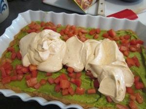 7 layer dip sour cream layer