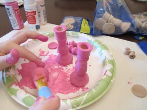 American Girl hat stands painting