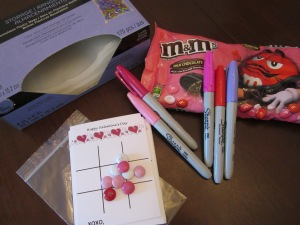 tic tac toe valentine supplies