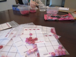 tic tac toe valentines assembly line