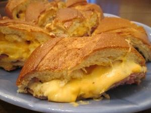 big sandwich plate