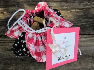 dog treat gift bag