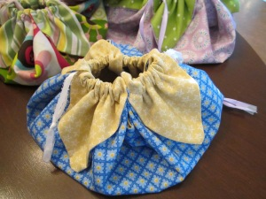 petal bag blue medium size