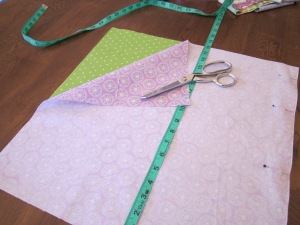 petal bag cutting fabric