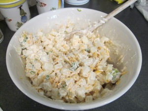 hashbrown casserole ingredients mixed