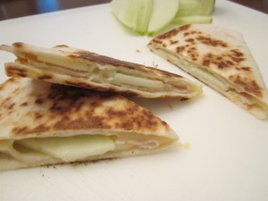 turkey quesadilla slices