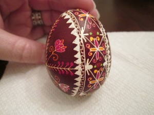 ukrainian egg dark red border