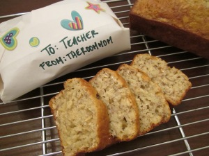 banana bread teacher gift