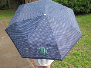 monogrammed umbrella polka dot