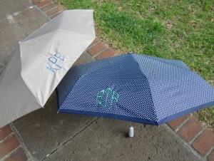 monogrammed umbrellas khaki