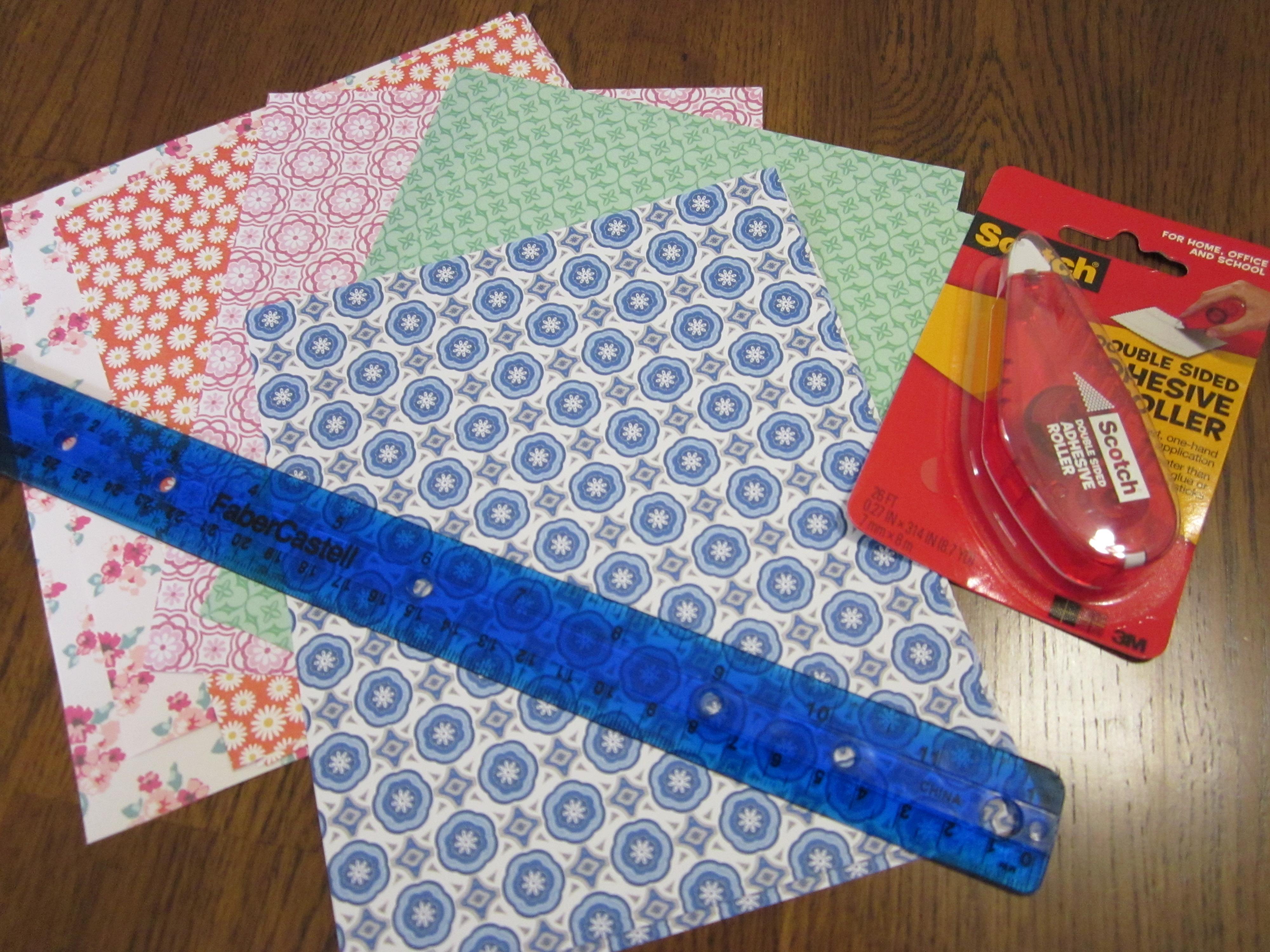 How to scrapbook materials - Paper Pockets Materials