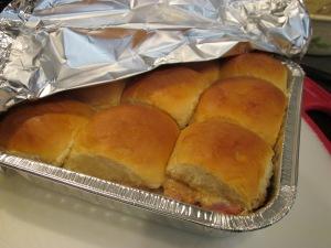 ham sandwiches baked